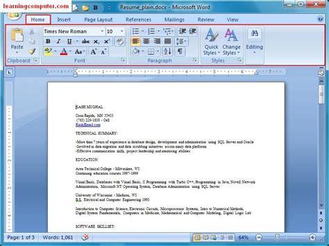 microsoft word  home tab softknowledges blog
