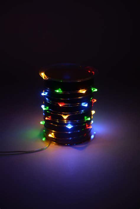 everlasting glow led light strings everlasting glow micro led light string battery op 10