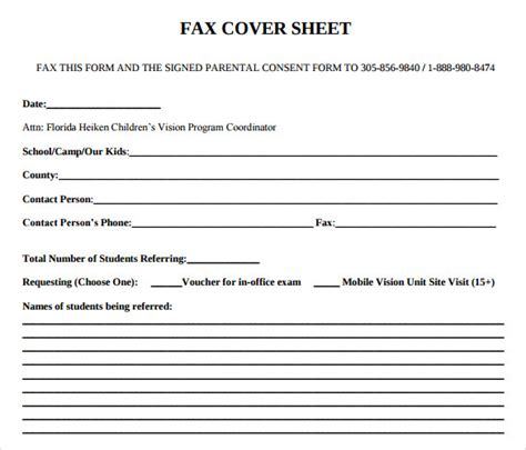 sample office fax cover sheet  documents   word