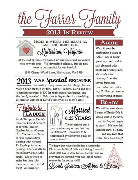Newsletter Ideas Families And Christmas On Pinterest