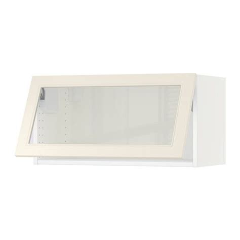 ikea horizontal kitchen cabinets ikea sektion horizontal wall cabinet glass door white 4445