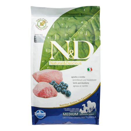 farmina natural delicious grain  lamb blueberry