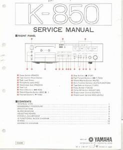 Yamaha K-850 Cassette Deck   Original Service Manual