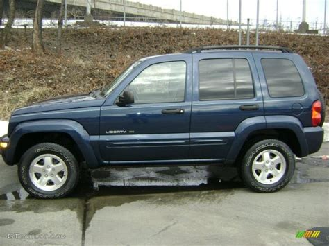 liberty jeep 2002 2002 patriot blue pearlcoat jeep liberty limited 4x4