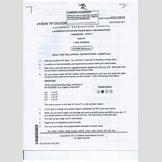 Cape Chemistry Unit 2 Paper 1 2015
