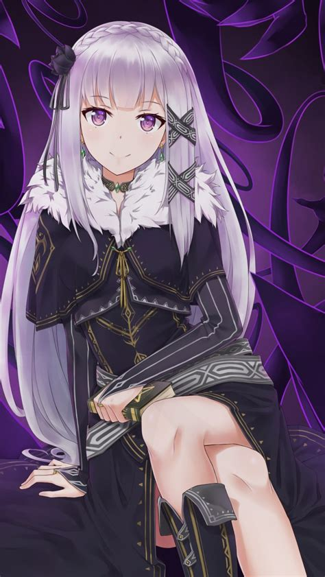 wallpaper rezero emilia hd  anime