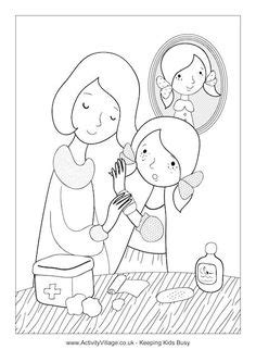 Coloring Page of Broken Arm | Get well gifts, Girls camp