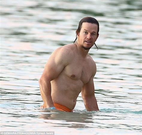 mark wahlberg sexy mark wahlberg goes shirtless showing off his ripped body