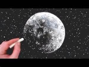 Realistic Full Moon Drawing