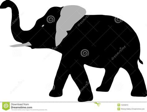 elephant clipart outline trunk up elephants trunk clipart 42