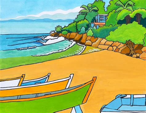 Crash Boat Pr by Crashboat In Aguadilla Pr Painting By Tim Treadwell