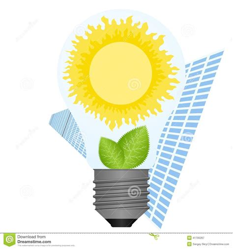 sun l bulb the sun in a light bulb stock vector illustration of