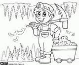 Mina Miner Minero Dibujos Coloring Colorear Mineiro Mine Pintar Mineros Colorir Mijnwerker Mining Desenho Imprimir Dentro Dibujo Imagenes Colorearjunior Oficios sketch template
