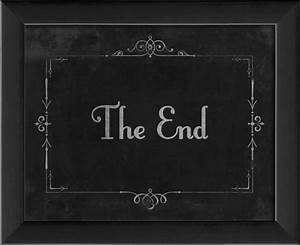 """The Artwork Factory - Silent Movie """"The End"""" Framed"""