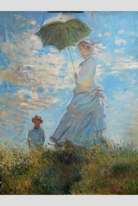 Saatchi Art: Reproduction of Woman with a Parasol - Claude Monet Painting by Ivo Kličinović