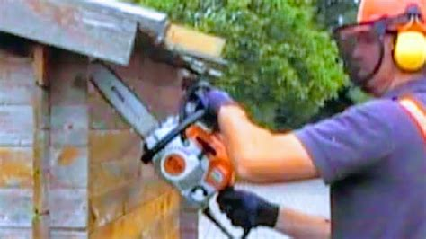 how to tear a shed how to tear hut with chainsaw demolish shed with