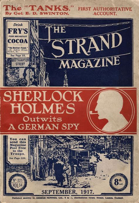 holmes sherlock strand magazine covers last bow doyle conan arthur 1917 library vol 1891 george did issue story magazines september
