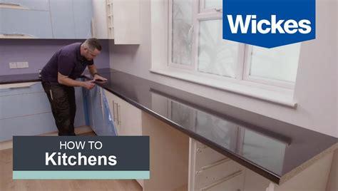 fit  kitchen worktop  wickes youtube