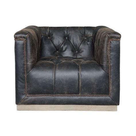 distressed leather club chair 1000 ideas about black leather couches on 6786