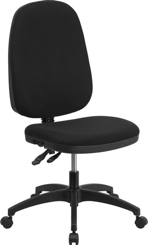 Swivel Office Chair Without Arms by High Bak Fabric Multi Functional Swivel Chair Black