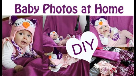 diy baby photoshoot  home easy simple ideas
