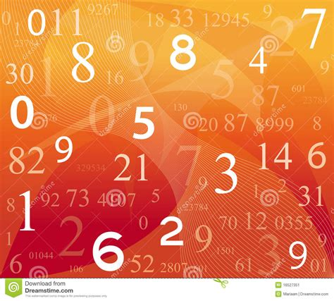 digital background  numbers stock image image
