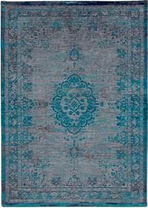 Louis De Poortere : louis de poortere fading world medallion grey turquoise tapijt online tapijten ~ Frokenaadalensverden.com Haus und Dekorationen