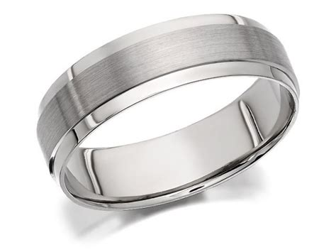 f hinds mens gents palladium 500 brushed and polished finish wedding ring 6mm ebay