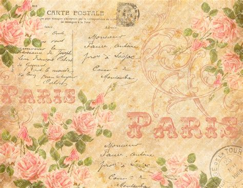 shabby chic collage sheet vintage pink roses scrapbooking