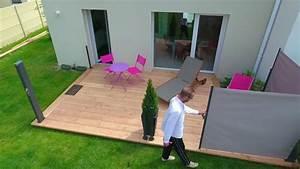 rideaux de terrasse retractables youtube With rideaux pvc pour terrasse