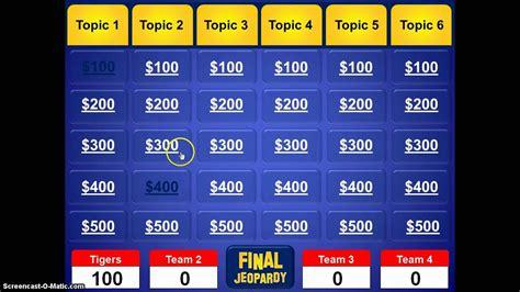 jeopardy powerpoint template youtube