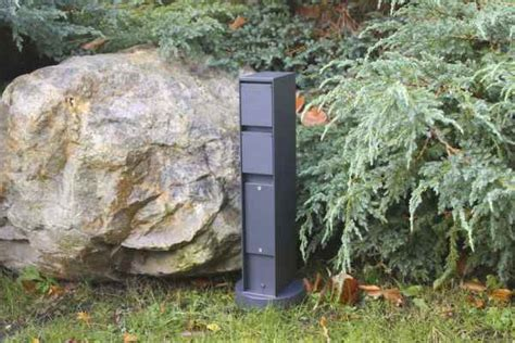 Steckdosensäule Mit 2 Steckdosen Grafit Schwarz Von Bega