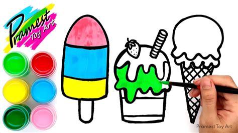 mewarnai gambar es krim untuk anak tk pelajari