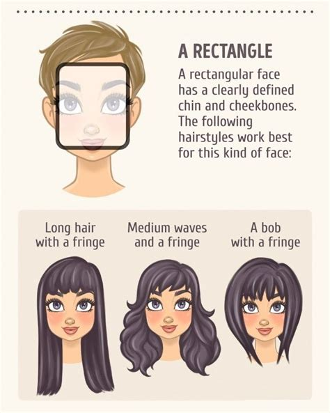 rectangle face shapes pinterest face shapes