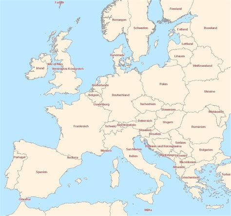 karte eu   europa staaten und hauptstaedte