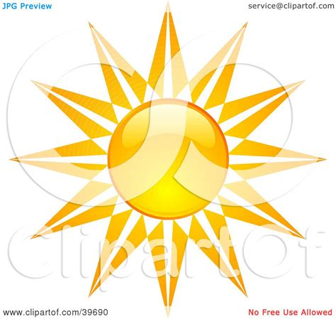 Clipart Illustration of a Stary Like Bright And Shiny ...