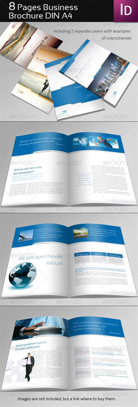 Multi Page Brochure Template by 8 Page Business Brochure Graphicriver