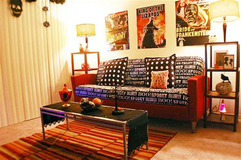 Halloween Living Room Apartment Decor