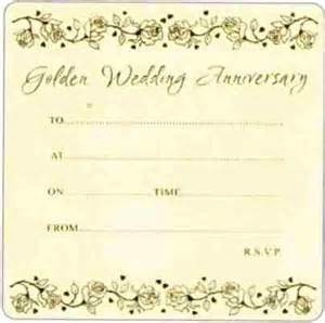 golden wedding anniversary invitations golden wedding invitations in packs of 10 wizard
