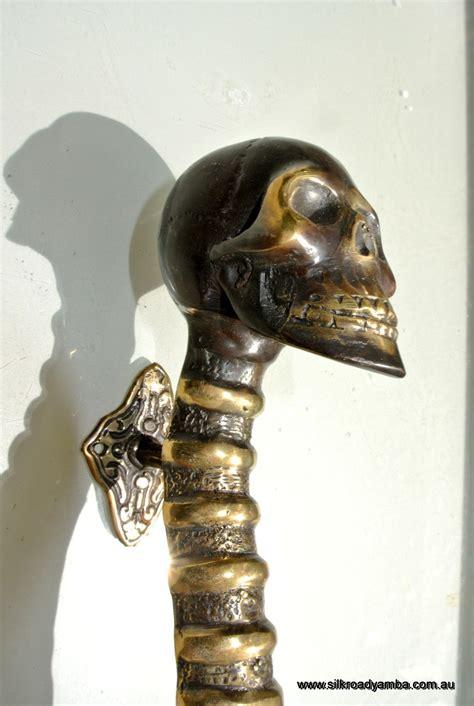 small skull handle door pull spine solid brass bronze style mm silk road yamba javanese