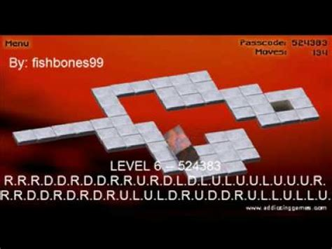 code for level 33 on bloxorz