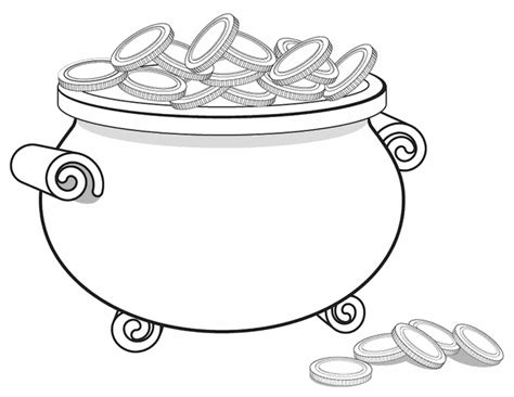 pot of gold template pot of gold free printable coloring pages