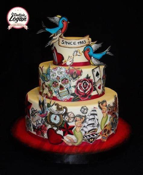 torta   fanatico ed amante dei tatuaggi pasteles en