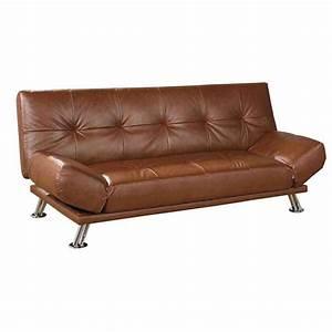 brown leather futon sofa bed home furniture design With brown leather futon sofa bed