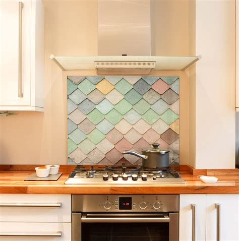 tile splashback kitchen pastel tiles glass splashback aurello 2775