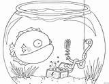 Underwater Coloring Pages Scene Fish Cartoon Print Sea Realistic Kerra Bowl Getcoloringpages Popular Creatures sketch template