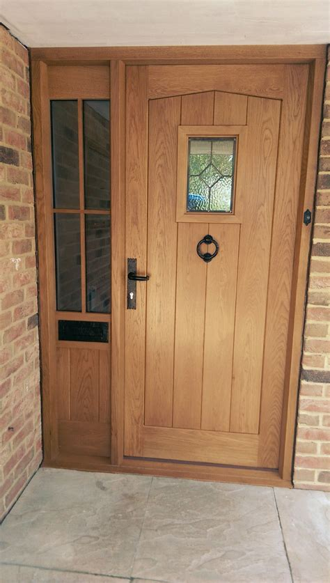 External Doors And Frames by Oak Front Door And Frame With Half Glazed Sidelight