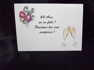 Faire Part Anniversaire 60 Ans : faire part anniversaire 60 ans ~ Edinachiropracticcenter.com Idées de Décoration
