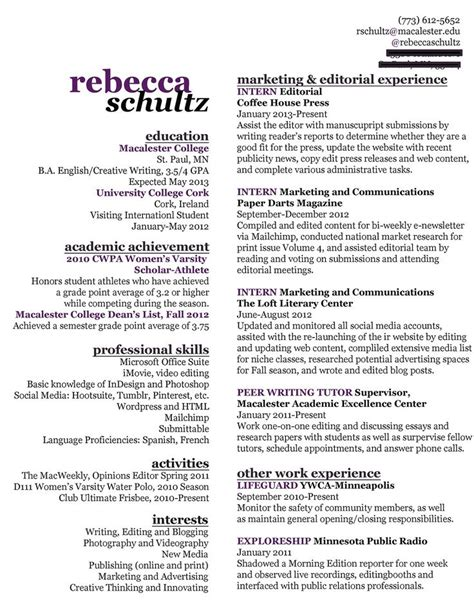 Resume Writing by Use Of Space Fit A Lot Of Info On One Page