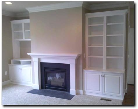 cabinets next to fireplace annandale virginia images